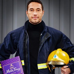 Picture Of All because the lady loves... North West firefighter Patrick is the new Milk Tray Man